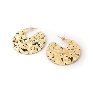 Urban Outfitters Jewelry - Gold Hammered Earrings